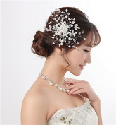 KHSKX-The Bride Headdress Jewellery Headdress Flower Hair Comb Trim Pearl Wedding Wedding Decoration Decoration Flower Head