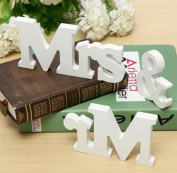 Faylapa Mr & Mrs Signs Elegant Wooden Freestanding Letters for Wedding Sweetheart Table or Receptions Table Decorations
