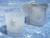 Winter Wonderland Frosted Glass Votive Candle