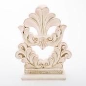 Vintage Style Flourish Design Fleur De Lis Cake Topper, Centrepiece