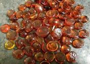 500g app 115 of DARK ORANGE Glass Pebbles/Stones/Gems/Nuggets /Beads 17 - 20mm