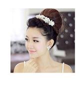 Kelaina Elegant Wedding Dress Accessories Bridal Pearl Crystal Headdress