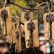 Awtlife 50 pcs Wedding Favour Skeleton Key Bottle Opener with Tag Cards for Party Rustic Decoration