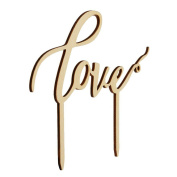 Wooden Wedding Cake Supplies English Letters Love Shaped Wedding Cakes Topper