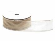 Organza Ribbon Tubular Portaconfetti Cappuccino