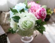 artificial flower - Peony Bundle Mint