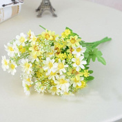 Kicode 33cm 28 Heads Artificial Flowers Bouquets Fake Mini Daisy Flower Silk Floral for Office Home Wedding Decoration