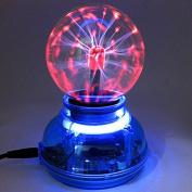 Kicode Plasma Ball Sphere Ball [Touch Sensitive] Lightning Light 7.6cm Nebula Sphere Globe Novelty Toy-USB or Battery