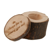 ZCSMg Creative Romantic Wooden Wedding Ring Box