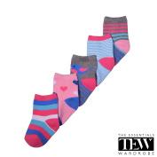 The Essentials Wardrobe Baby Socks Baby Girls Socks Newborn Toddlers Ankle Design Socks 5 Pairs 0-12 months