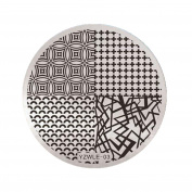 NXDWJ YZWLE Metal Plate Template for Stamping Nail Patterns Decor Nail Art, Vol.3