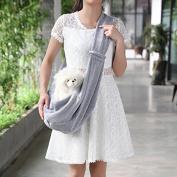 Fengh Portable Pet Dog Puppy Bag Outdoor Shoulder Bag_Gray