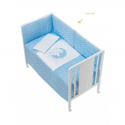 Coordinated Cot Moon Star Blue