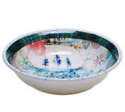 Tracy Porter 23555 Poetic Wanderlust 33cm x 7.6cm Folklore Holiday Serving/Pasta Bowl, Multicolor