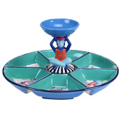 Tracy Porter 25748 Poetic Wanderlust 38cm x 19cm Reverie Chip and Dip with 3-D Bowl, Multicolor