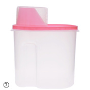 ZHUOTOP Plastic Kitchen Food Cereal Grain Bean Rice Storage Container Box S-Pink