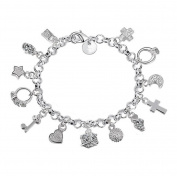Westeng Charm Bracelet Women Silver Jewellery Hand Chain Pendants Decoration