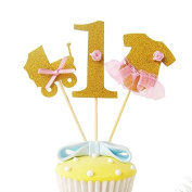 Decoracion Cakes Happy Birthday First Birthday 3 Decos Purpura Gold and Bows Celebrations, Anniversaries, Birthday, Cake cupckes School and Guarderia Decorate Gifts and Scrapbooking, Photographs, Open Buy.. Photocall, Collage,