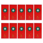 Nikgic Tree Christmas Greeting Cards Greeting Card with Envelopes for Xmas 10PCS a Set