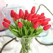 BENHAI 1pc 10Pcs/lot Tulip Artificial Flower PU Home Vivid Flowers Bouquet Wedding Decorative Flowers Colourful Casual Artificial Wedding Flower