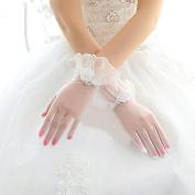 Ajunr-Gloves Bridal Winter Bridal Short White Lace Wedding Flower