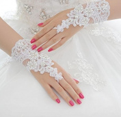Ajunr-Gloves Bridal Veil Short Lace Wedding Accessories Finger