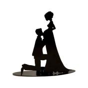 mopec Figure of Bride Pregnant, Metal, Black, 7 x 19 x 18 cm