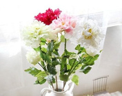 artificial flower - Peony Branch Red