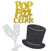 Glitter Cutout Decorations Celebrate Pop Fizz Wedding Day Craft Table Wall Party