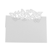 Demiawaking 50Pcs Butterflies Wedding Birthday Christmas Party Table Name Place Cards Favour Decor
