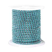 Pinzhi Cystal Rhinestone Close Cup Chain Trimming Claw Chain Jewellery Crafts 1Yard 1-Row