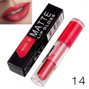 HKFV MISS ROSE Liquid Lipstick Moisturiser Velvet Lipstick Cosmetic Beauty Makeup Creative Fashion Lipsticks Colour Design Superb Charming Decoration On Your Lips For Daily Party