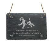 "Slate Airedale Terrier ""Your Text/Design 22 x 16 cm – Dog Sign"