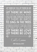 LET THERE BE LOVE - NAT KING COLE - Wedding Anniversary Engagement Song Personalised First Dance Lyric Lyrics A4 (21cm x 29.7cm) Unframed Print