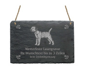 "Slate Border Terrier ""Your Text/Design 22 x 16 cm – Dog Sign"