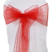 good01 10Ps Beautiful Gauze Chair Ribbon Sash Sashes Wedding Banquet Party Decor