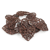 20pcs/Pack Natural Rattan Heart for Christmas Birthday Party & Home Wedding Party Wedding Party Decoration Ornaments 7cm-Coffee