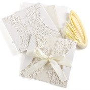 10Pcs Hollow Out Decorative Invitation Greeting Cards for Wedding Birthday Engagement Party #1