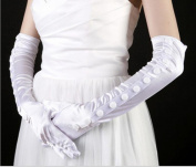 Dbtxwd Glove Dresses Bride Bridesmaid Banquet Sunscreen Finger Gloves Elbow Length Satin Gloves