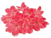 10 Stems Real Touch Artificial Hawaiian Lei Faux Ivory Plumeria Latex Flower Bouquet for Bride Wedding Party Festival Decoration Bouquet