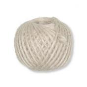 Cream Wool Jute Cord, 3 mm ø, approx. 46 M, Weight 100g