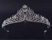 Crystal Crown Rhinestones Bridal Tiara Wedding Party Prom Queen Hair Accessories Silver White