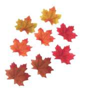Syndecho 200pcs Artificial Autumn Fall Maple Leaves Assorted Autumn Colours - Autumn Table Scatters for Fall Weddings & Autumn Parties Decoration
