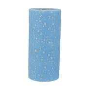 Sequin Tulle Fabric Roll, One Roll Blue Tutu Tulle with Glitter Sequin 15cm 25 Yards Knit Apparel Sewing Mesh Bow Banquet Decoration Gift Wrap Organza Trim Wedding Favour
