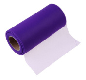 Tulle Fabric Roll Dark Purple 15cm 25 Yards Tutu Skirt Dress Knit Apparel Sewing Mesh Bow Banquet Decoration Gift Wrap Organza Trim Wedding Favour