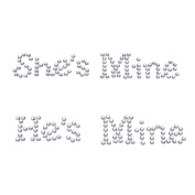 "Syndecho ""He's Mine"" ""She's Mine"" Crystal Rhinestone Wedding Shoes Stickers Shoes Applique Decals"