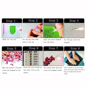A-goo ® 5D Diamond Static and Moving Painting Embroidery DIY Rhinestone Pasted Cross-Stitch Wall Paintings Home Art Decor