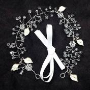 Tia-Ve The Headdress Of The Manual Diamond Dorgeous Decoration Wedding Leaves Shiny Hair Headband Hair Accessories