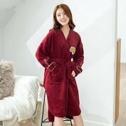 GFEI The robe with long velvet sweet autumn winter female flannel bathrobe,160