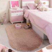 40x60CM Bedroom Floor Rugs Mat, Woopower Cute Oval Velvet Mat Thicken Blanket for Living Room Bedroom